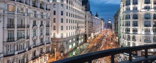 Hospedarse en Gran Vía de Madrid