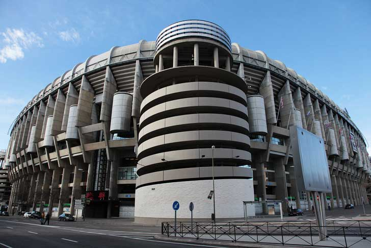 Exterior Santiago Bernabéu